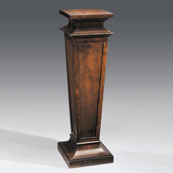 Empire pedestal in antique walnut muebles muebles madera y espejos madera - Pedestal para plantas ...