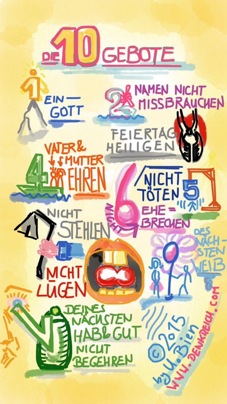Eselsbrücken für die 10 Gebote | Thema Molkerei - Müllerei ...
