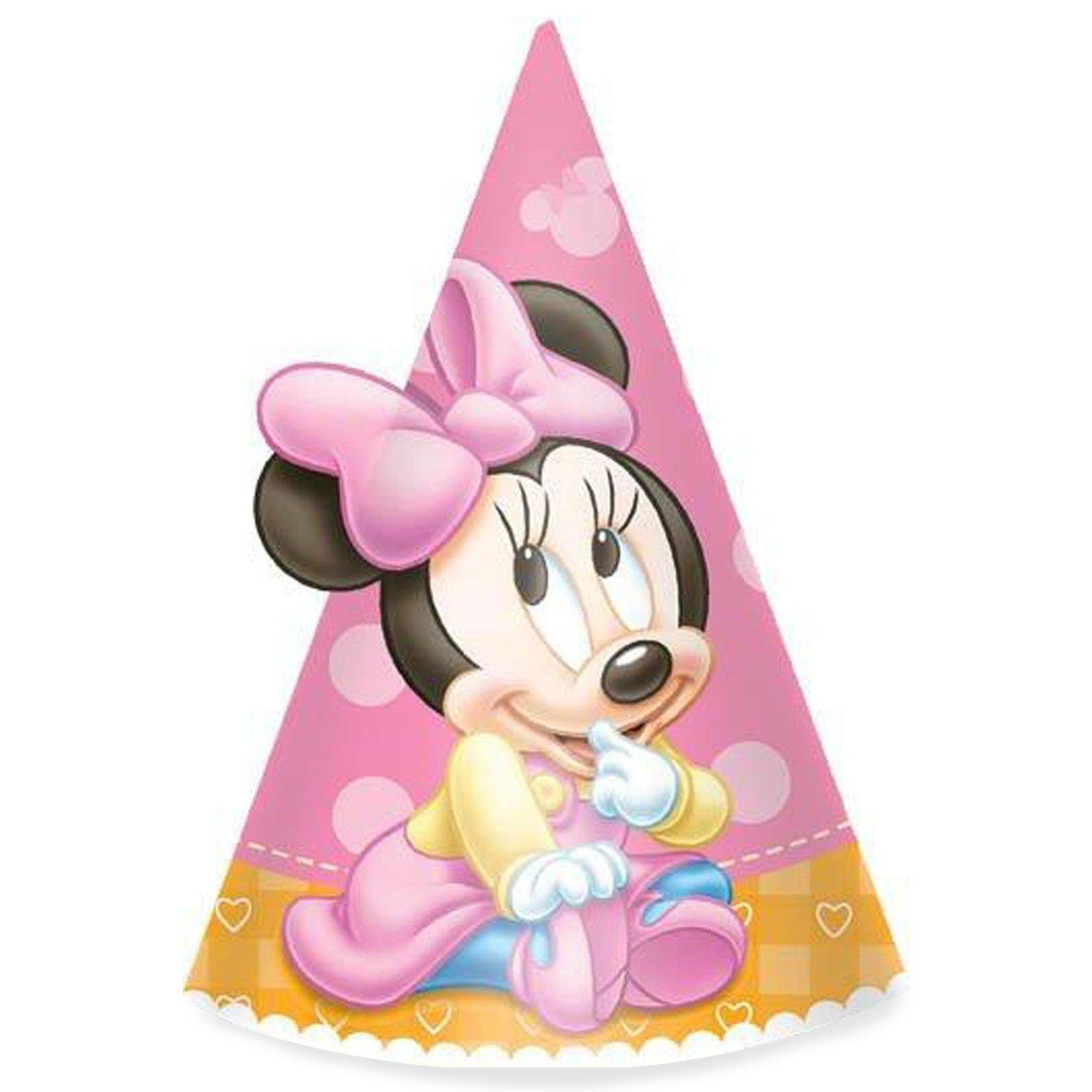 Disney Minnie's 1st Birthday Cone Hats