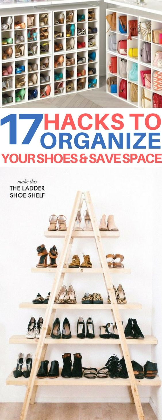 17 Shoe Storage Ideas To Organize Your Cluttered Space | Hacks diy ...