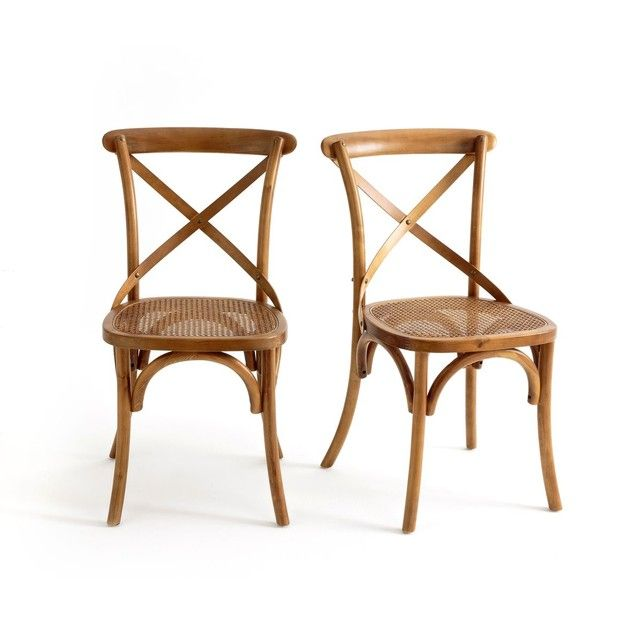 Chaise Dos Croise Cedak Lot De 2 Dining Chairs Room Country