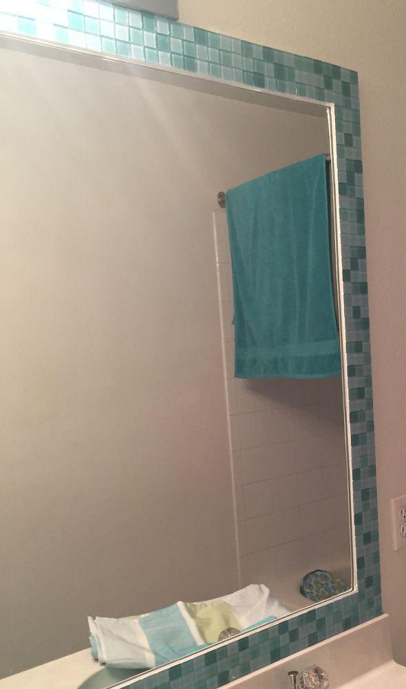 Tiled Bathroom Mirror Frame