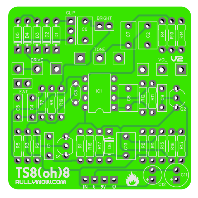 TS8(oh)8 - Inspired by Ibanez TS808 & TS9 | Guitar After the