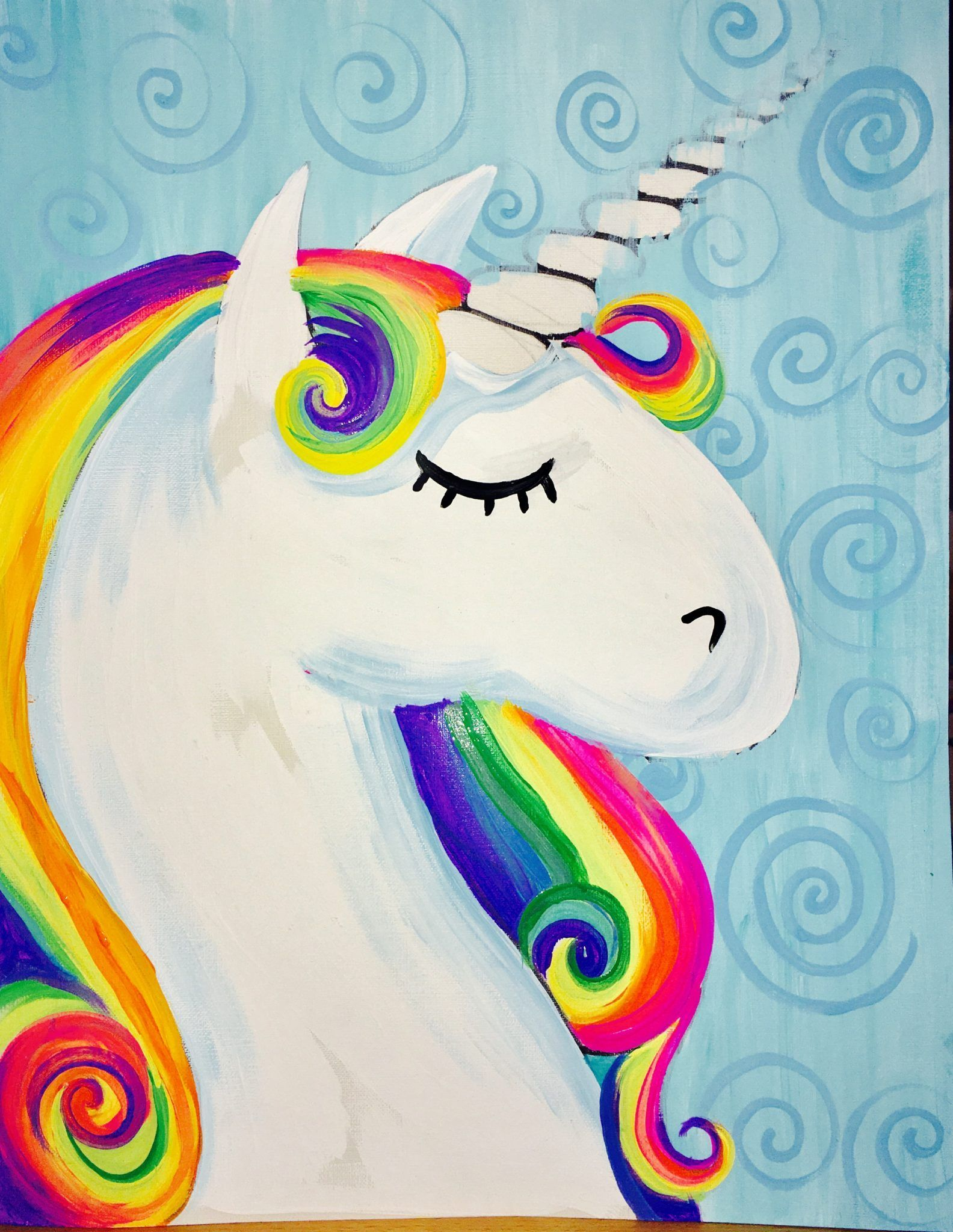 How To Paint A Rainbow Unicorn | Party of 4 | Unicorn