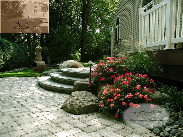 Paver Patio and Stone Steps in Bergen County, NJ