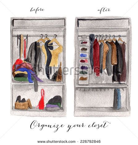 Wardrobe. With womens clothes on a white background
