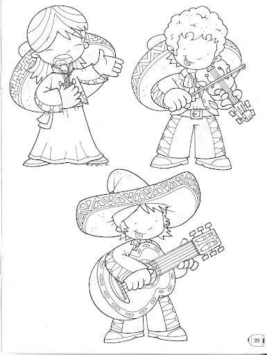16 De Sep With Images Coloring Pages Mexico Crafts Free