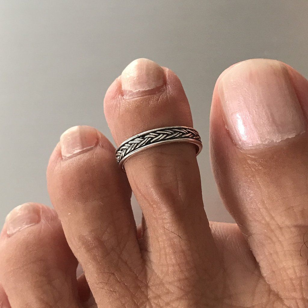 Sterling Silver Bali Design Toe Ring, Silver Rings, Band ...