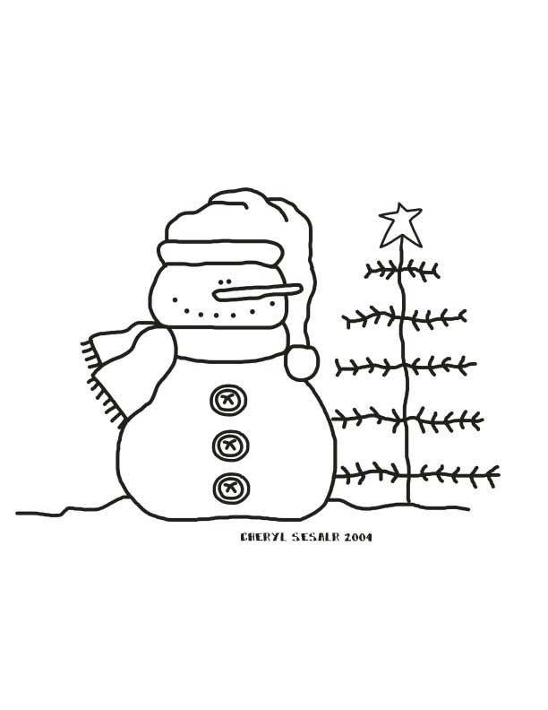 snowmantree 612×792 pixels  snowman coloring pages