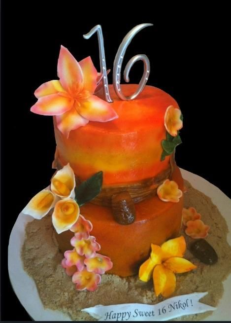 Hawaiian Sweet 16 Cake Cakes In 2019 Sweet 16 Cakes