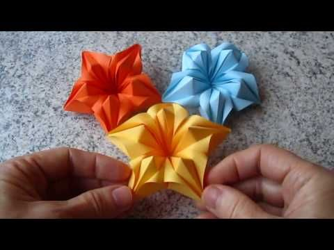Origami Blume Falten / DIY Origami Flower   YouTube