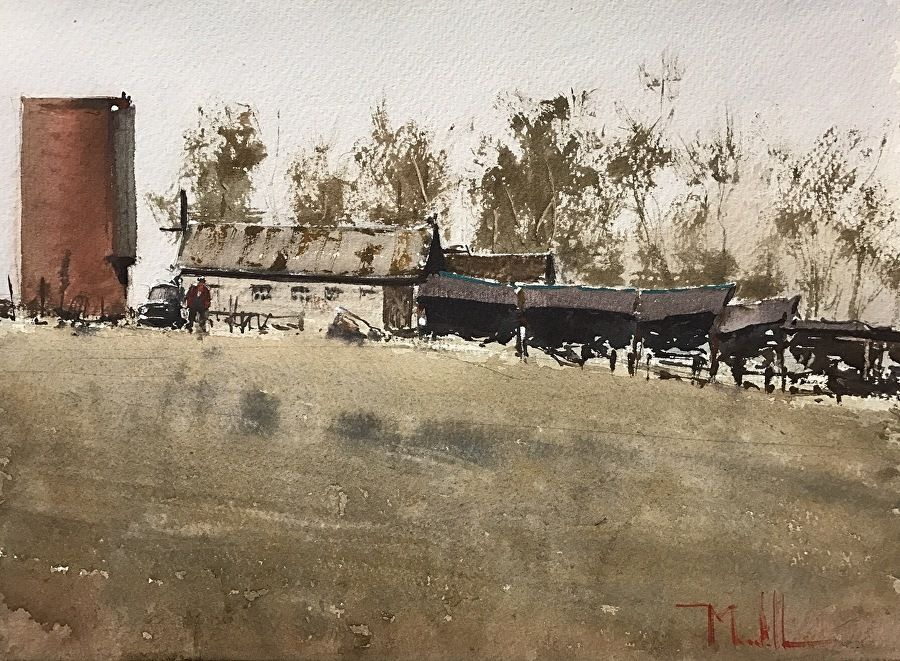 In poor repair by daniel marshall watercolor 11 x 15