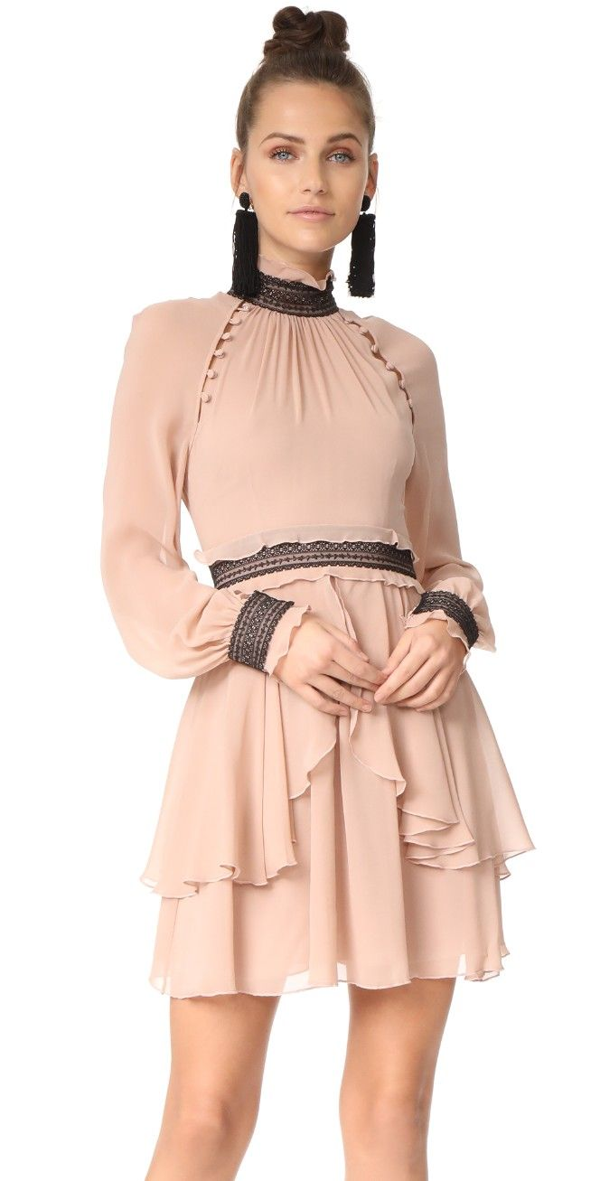 Nicholas silk georgette high neck mini dress shopbop shopbop