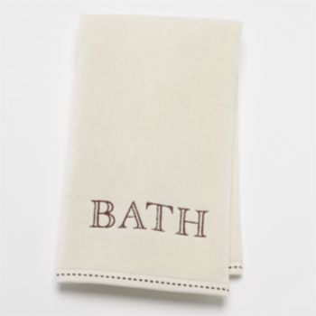 "SONOMA life + style ""Bath"" Monogram Hand Towel"
