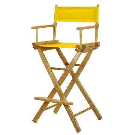 Tremendous 30 Inch Directors Chair Natural Frame Gold Canvas Beige Unemploymentrelief Wooden Chair Designs For Living Room Unemploymentrelieforg