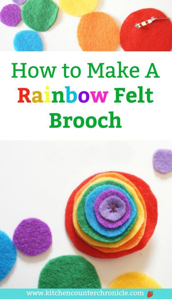 Do you always look for the rainbow after a storm? Make a cheerful felt rainbow brooch and you can wear a rainbow in all kinds of weather. Perfect beginner sewing project for kids. #rainbowcraft #craftforkids #kidsactivity #rainbow #pridecraft #springcraft #sewingproject #sewingprojectforkids