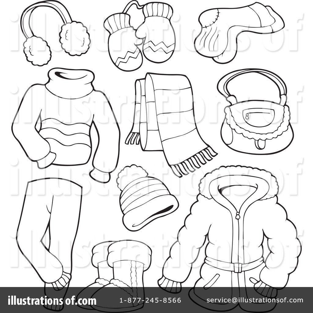 Werkblad Winter Kleding Logo Winter Winter Theme En Preschool