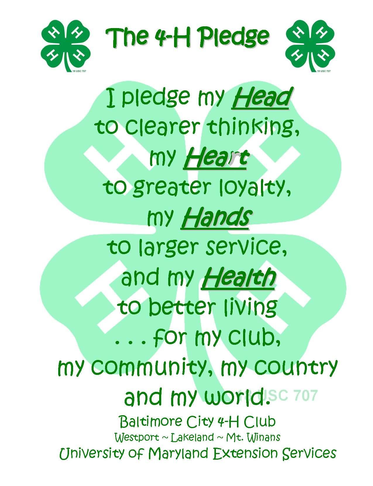 photograph about 4-h Pledge Printable named 4-H Task T.O.O.U.R., Inc. - 4-H Club Humorous 4 h club