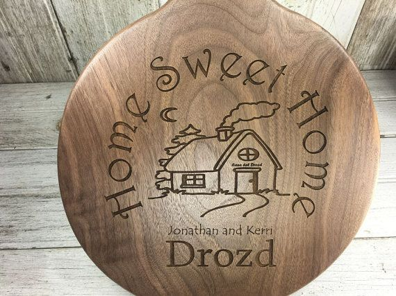 Personalized Cutting Board With Home Sweet Home Slogan 11 Round