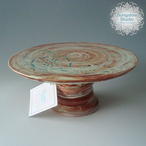 Ceramic cake stand in handmade, small cake stand in ...