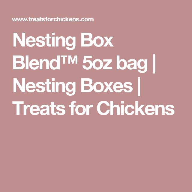 Nesting Box Blend™ 5oz bag | Nesting Boxes | Treats for Chickens