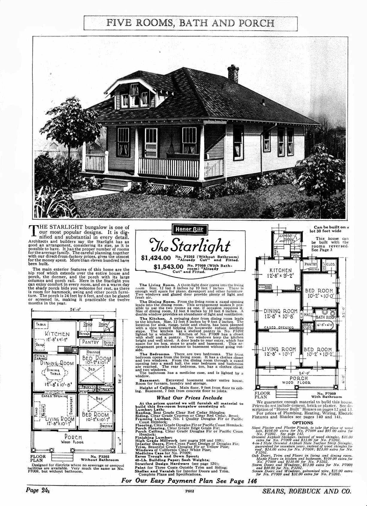 Sears Starlight Vintage House Plans Kit Homes House In The Woods