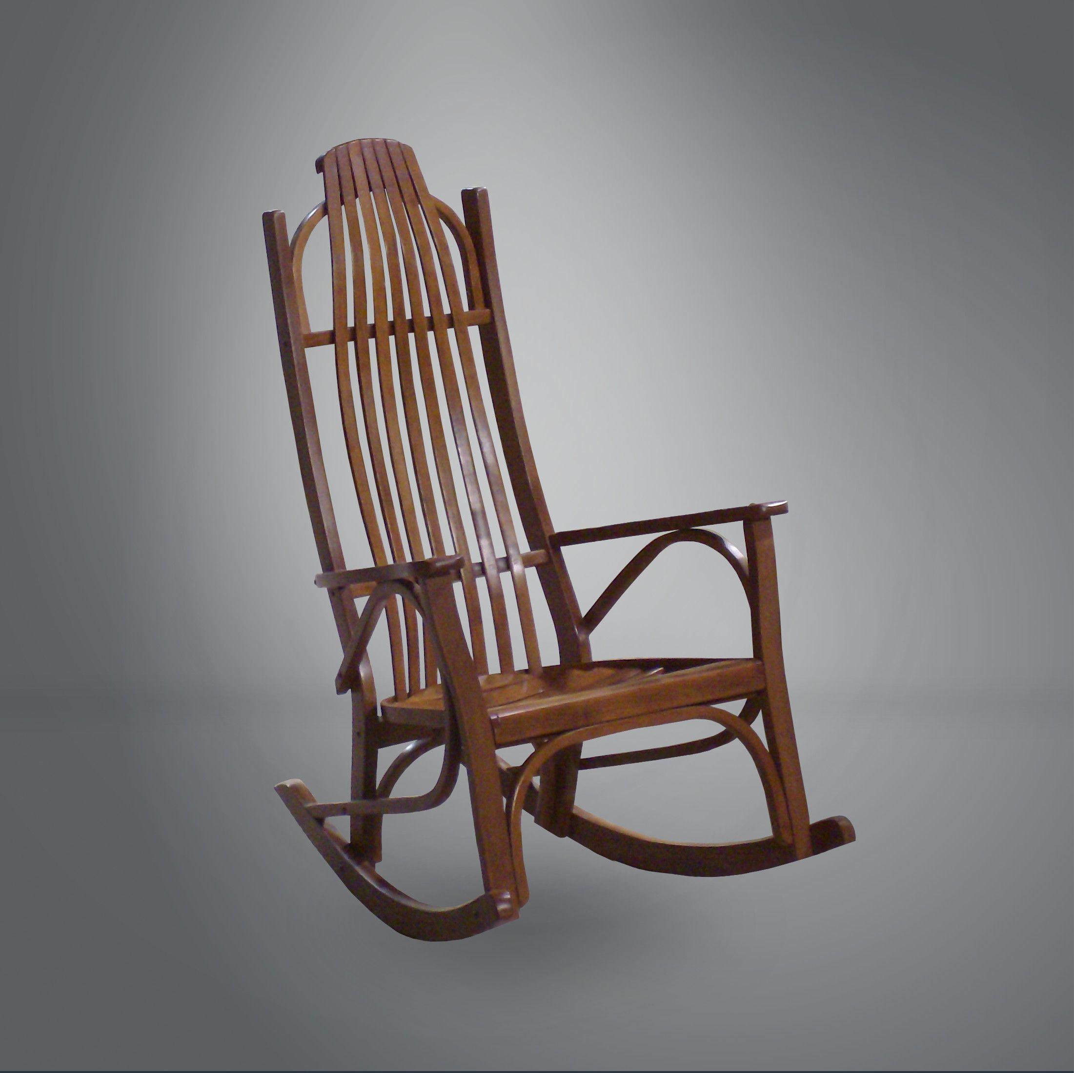 Solid Seat Rocking Chair Rocking chair, Wood rocking