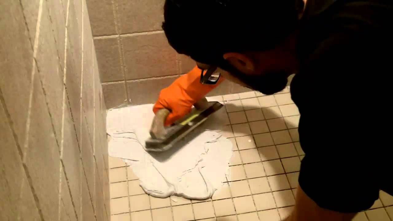 How To Use Shower Epoxy Grout By Home Repair Tutor Epoxy Grout Shower Grout Grout