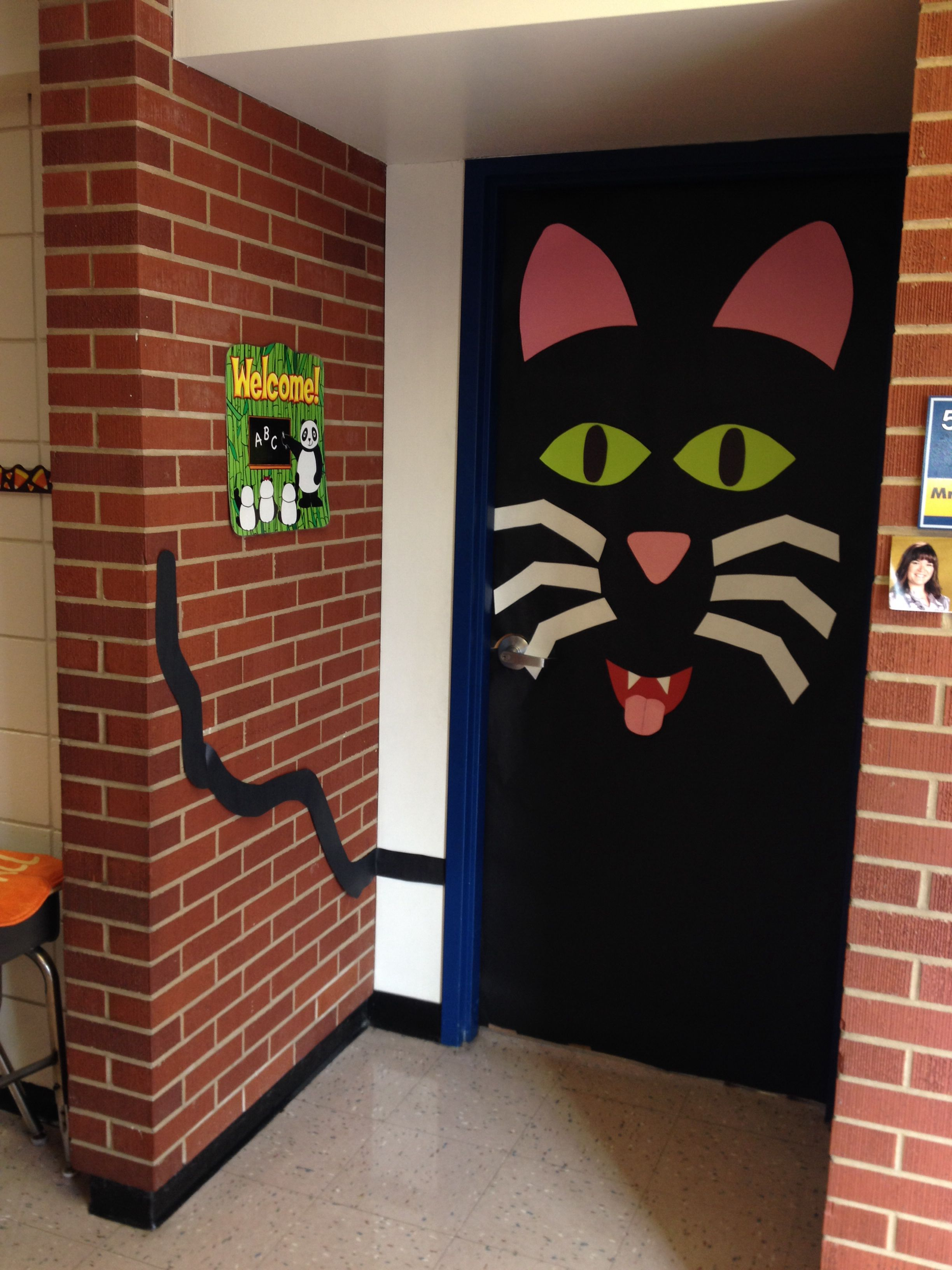 We had a Halloween door decorating contest at the elementary school - Halloween Classroom Door Decorations