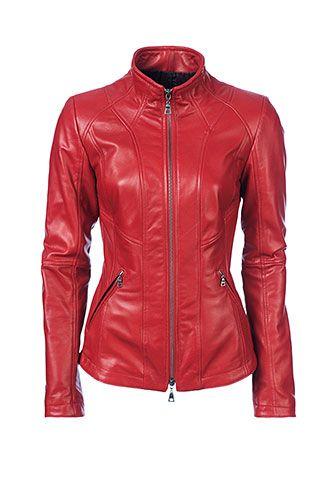$299 Danier Official Store, Lilian Italian lamb leather jacket, lipstick, Women's SALE, 104030521