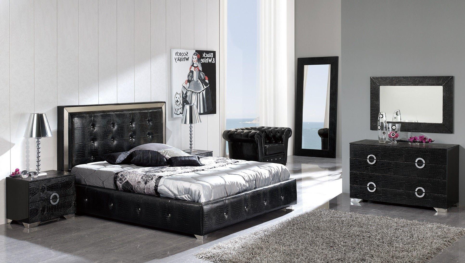 Coco Black Bedroom set - Modern with a dark edge  Modern bedroom