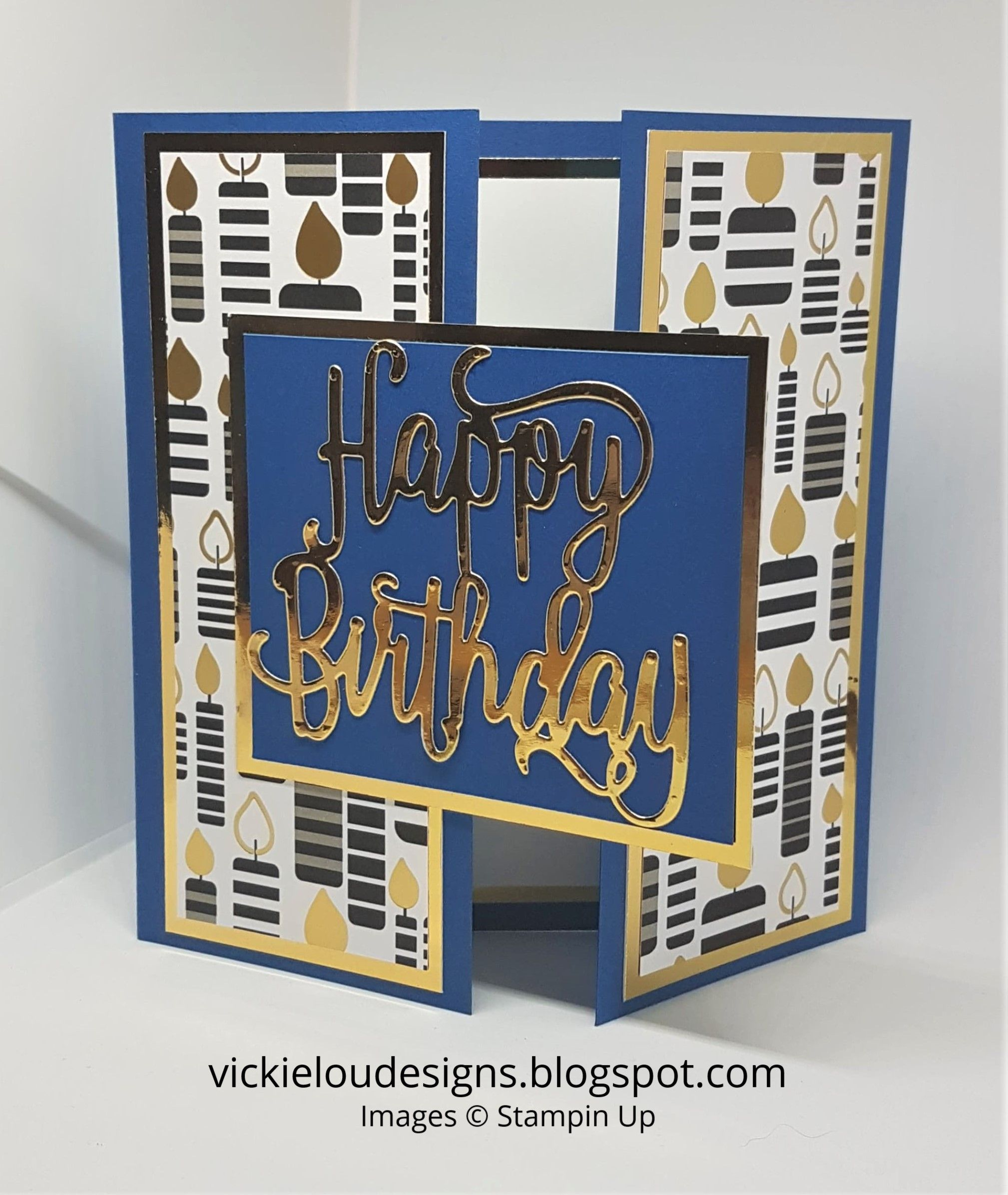 Happy Birthday Gate Fold Card. Number  35 of #100t