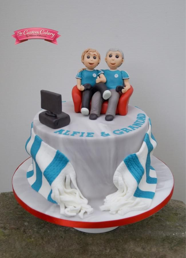 Grandad And Grandson By The Custom Cakery Boy Birthday Cake