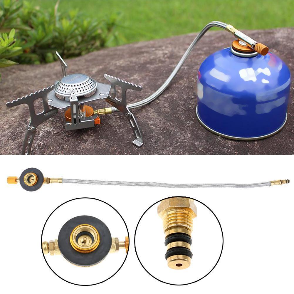 Stove Gas Refill Adapter Picnic Burner Connector for Outdoor Camping Stove