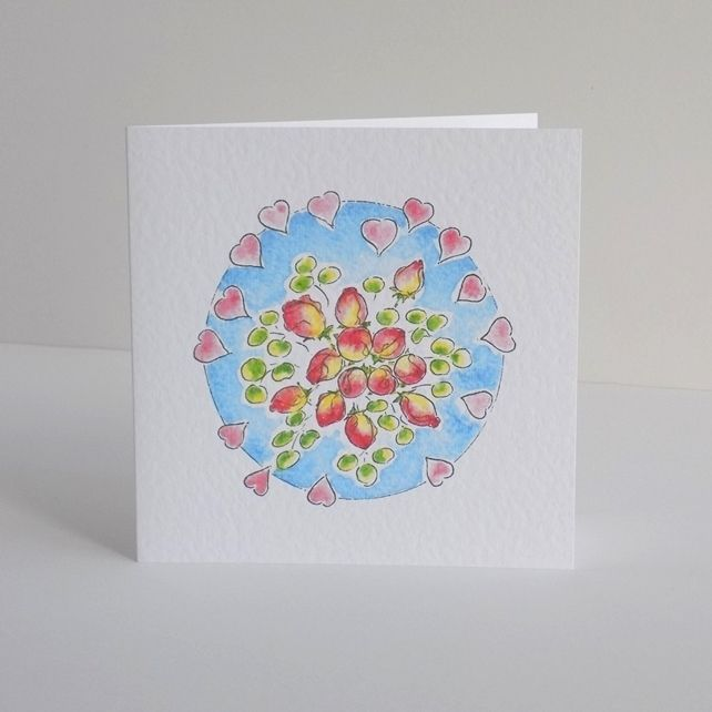 Greeting card - 'Rose buds' £2.70