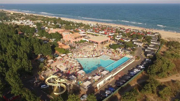 Marseillan Plage, Beach Garden, campsite, languedoc, swimming pool - camping a marseillanplage avec piscine