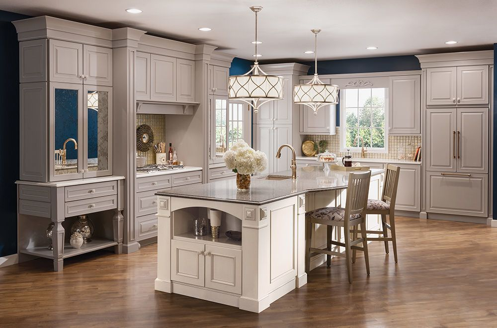 Best Maple Kitchen In Pebble Grey And Canvas Kraftmaid 400 x 300