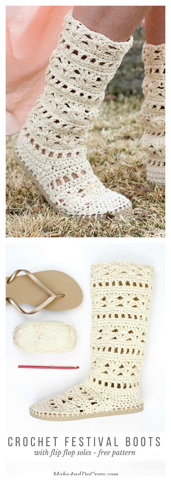 How to Crochet Slippers with Flip Flop Soles | Crochet | Crochet ...