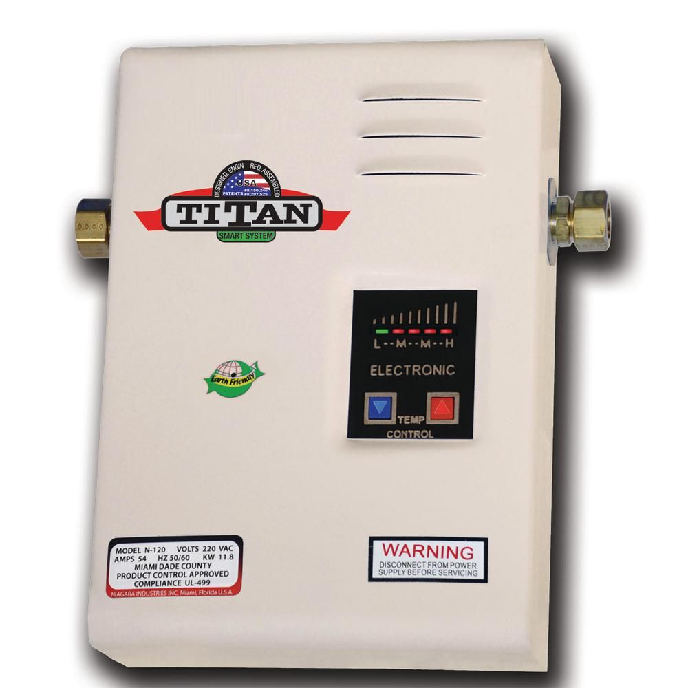 Titan Scr 2 11 8 Kw 4 0 Gpm Residential Electric Tankless Water