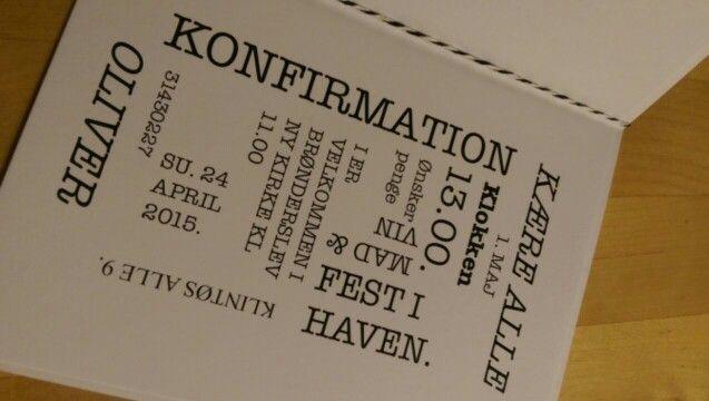 Invitation konfirmation