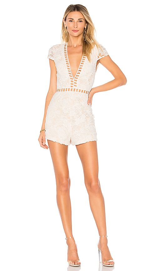 7846cb5968a6 by the way. Simone Lace Romper in Ivory | REVOLVE | Vegas Outfits ...