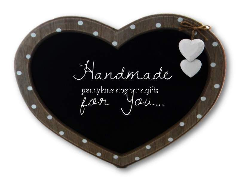 polka dots hanging hearts personalised sticky spotty address