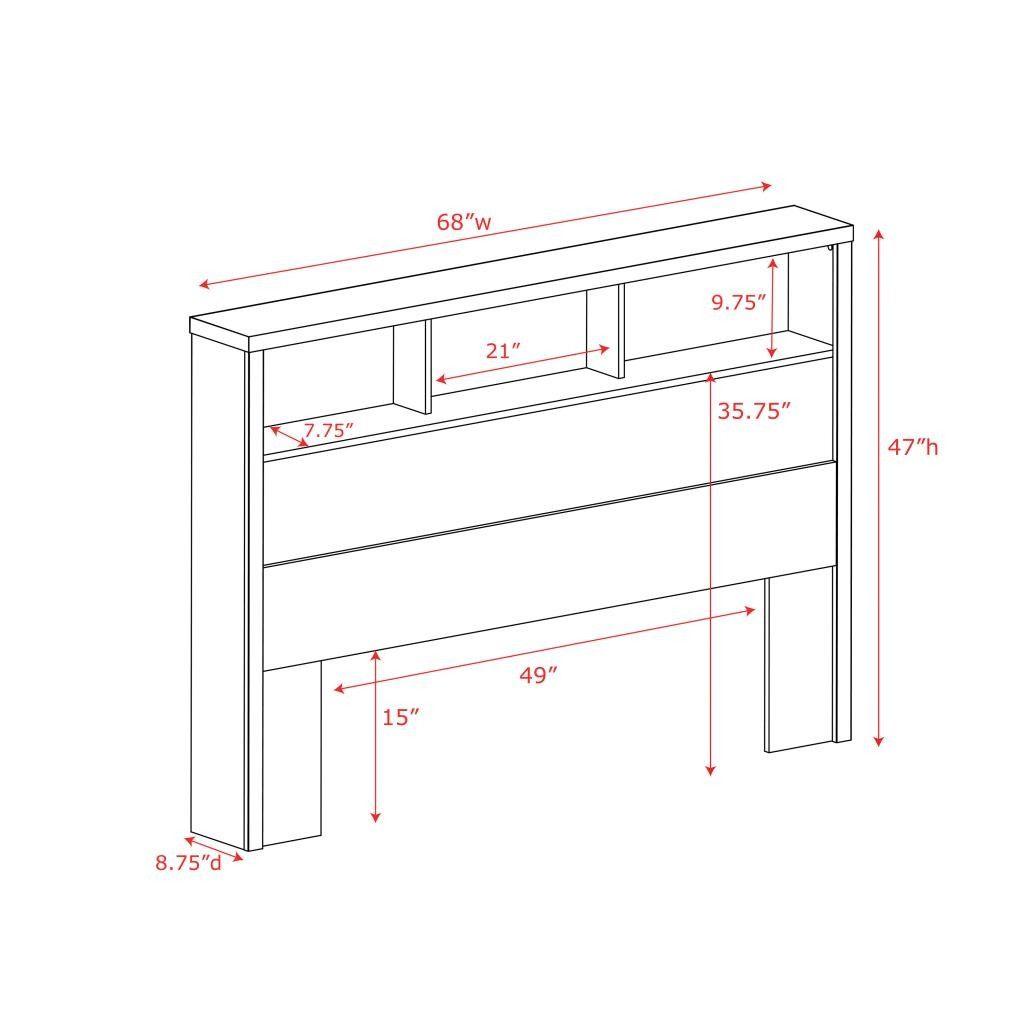 Fitz Upholstered Panel Headboard Bookcase Headboard