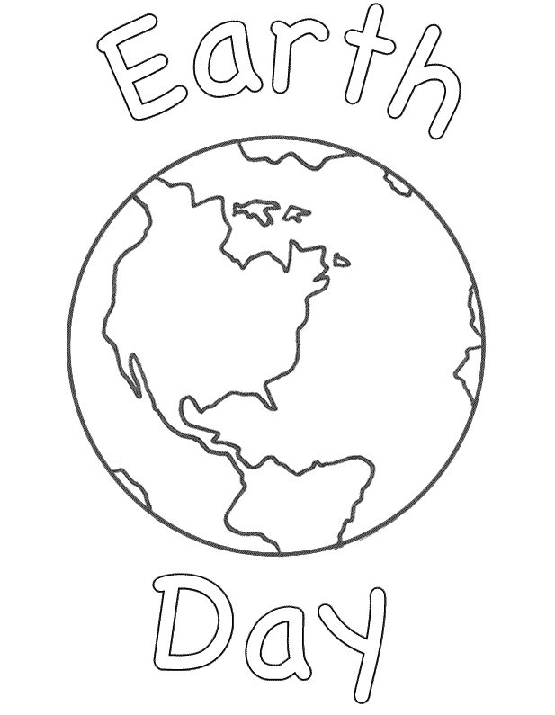 Earth Curved Words Coloring Picture For Kids Earth Coloring Pages Earth Day Coloring Pages Coloring Pages