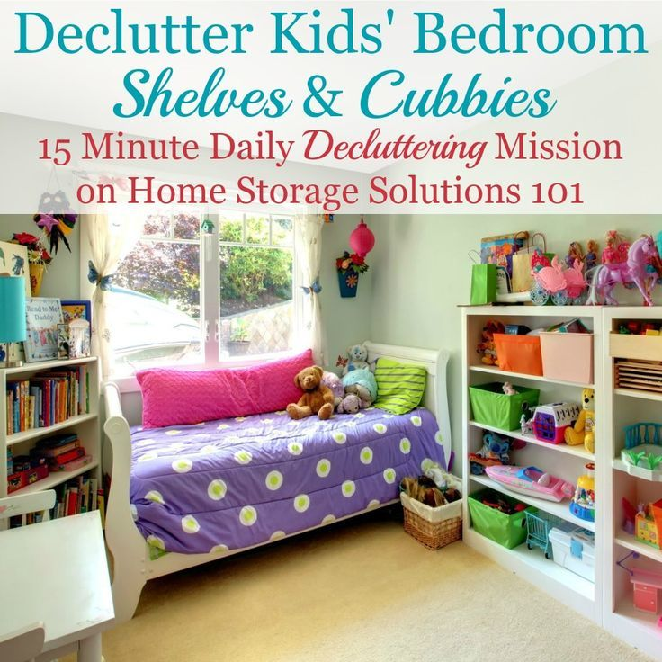 How To Get Rid Of Kids Bedroom Clutter is part of Kids bedroom Shelves - Here are instructions and tips for how to get rid of kids bedroom clutter without getting overwhelmed by the process, and not making a bigger mess, focusing on clothes, toys, games, and whatever else clutter you find in there
