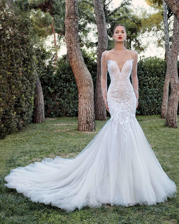 Demetrios 200111 In 2020 Wedding Dress Long Sleeve Ethereal Wedding Dress Wedding Dresses