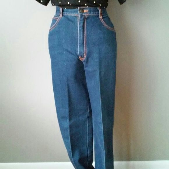 Vtg Gitano high waist jeans Marked size: 14  waist: 14.5 in  hip: 18 in  rise: 12.5 in  inseam: 29 in   *sold as is*  Due to age you can expect some wear. Will note anything dramatic.  *measured flat and NOT doubled. Vintage Jeans