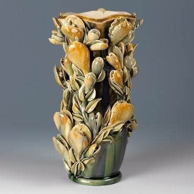 Kate Malone A Wide Mouthed Snap Dragon Tall Vase
