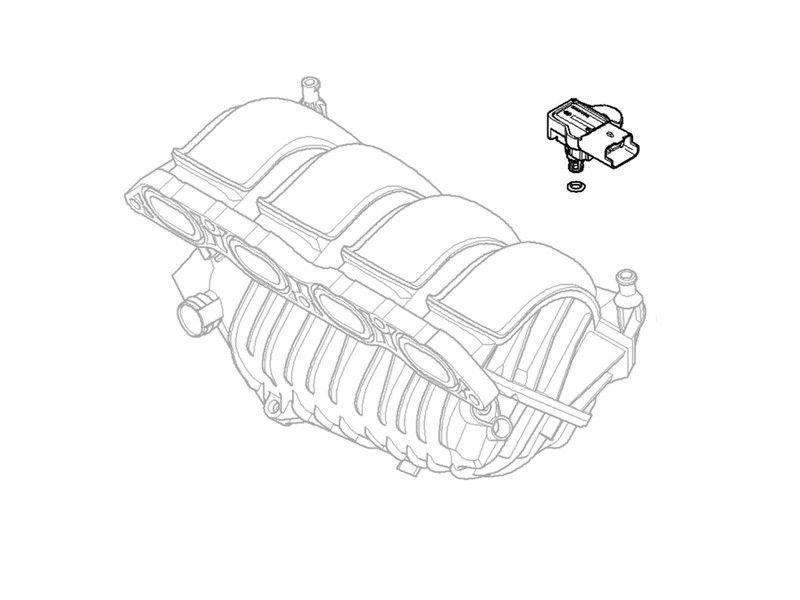 Mini Cooper Cooper S Inlet Manifold Pressure Sensor 2007 2013 R55 56 57 58 59 60 61 Map Sensor Mini Cooper Mini