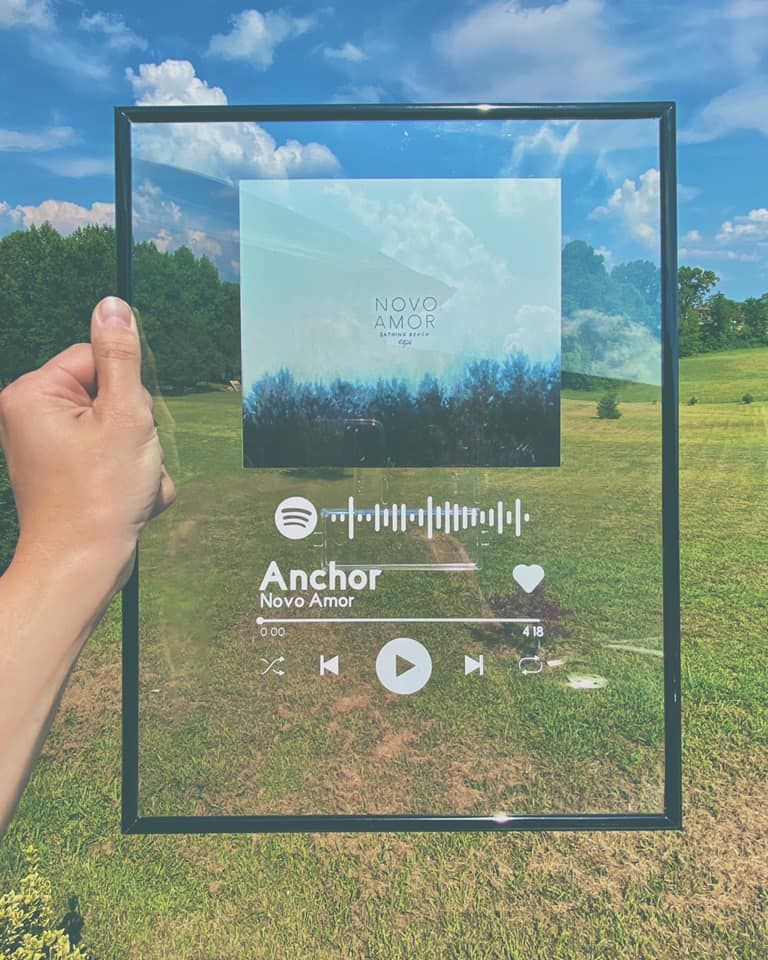 Acrylic Spotify Custom Player ANY Song CUSTOMIZED Etsy
